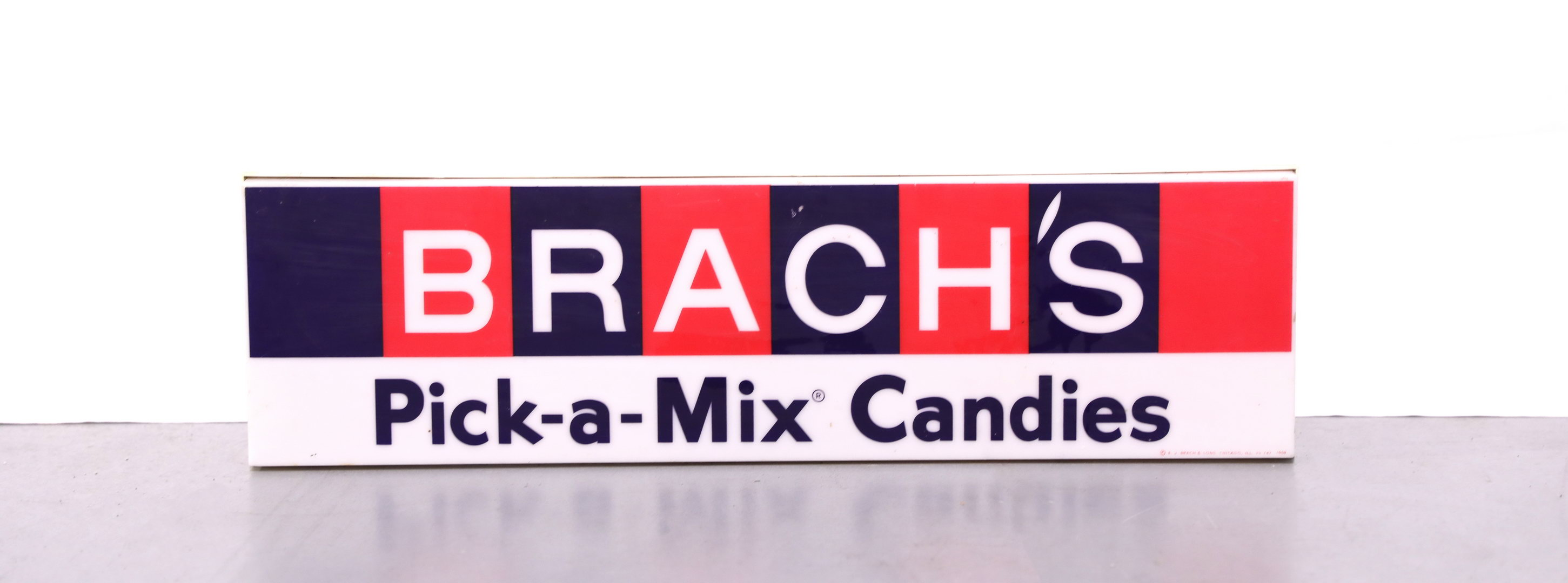 BRACH'S Pick-A-Mix Candies Lighted Plastic Sign