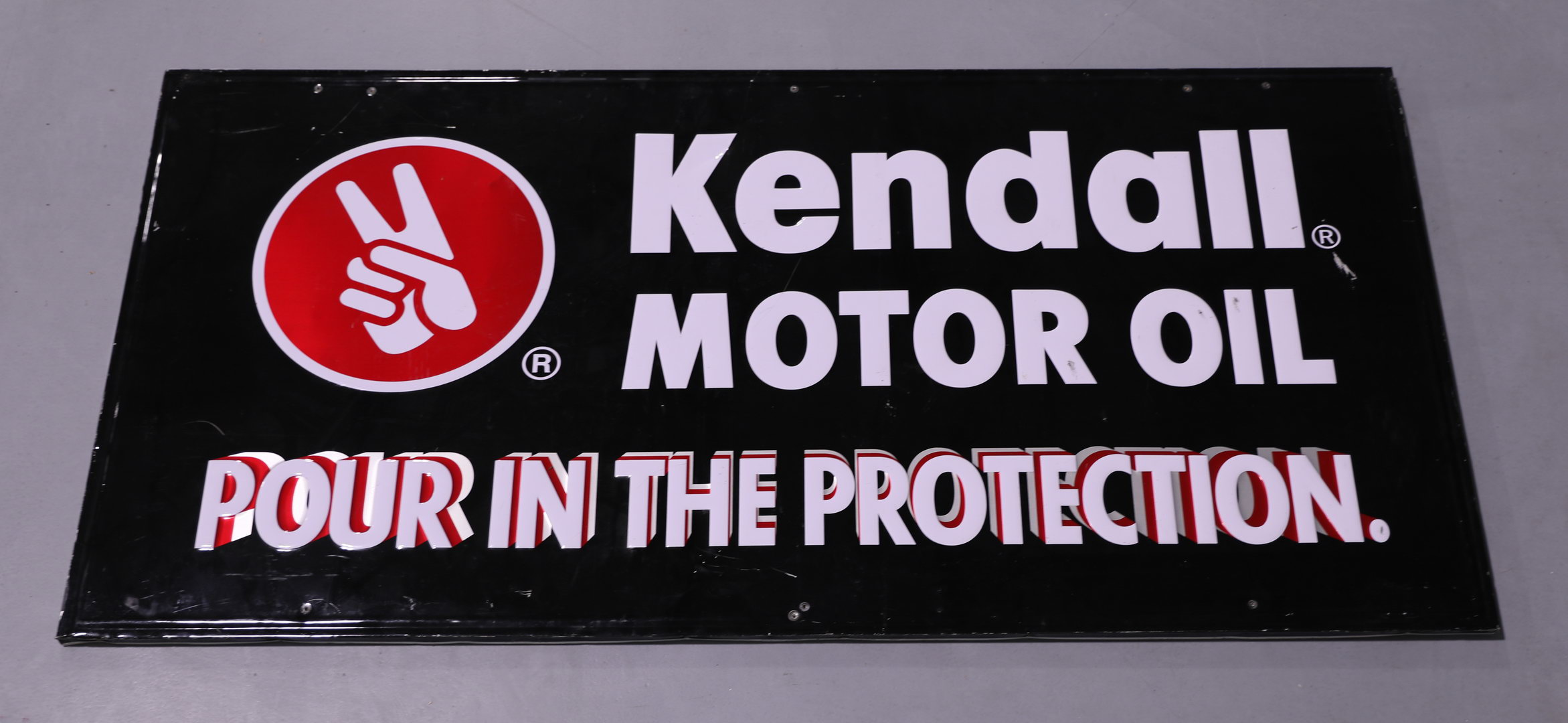 Kendall Motor Oil Embossed Tin Sign