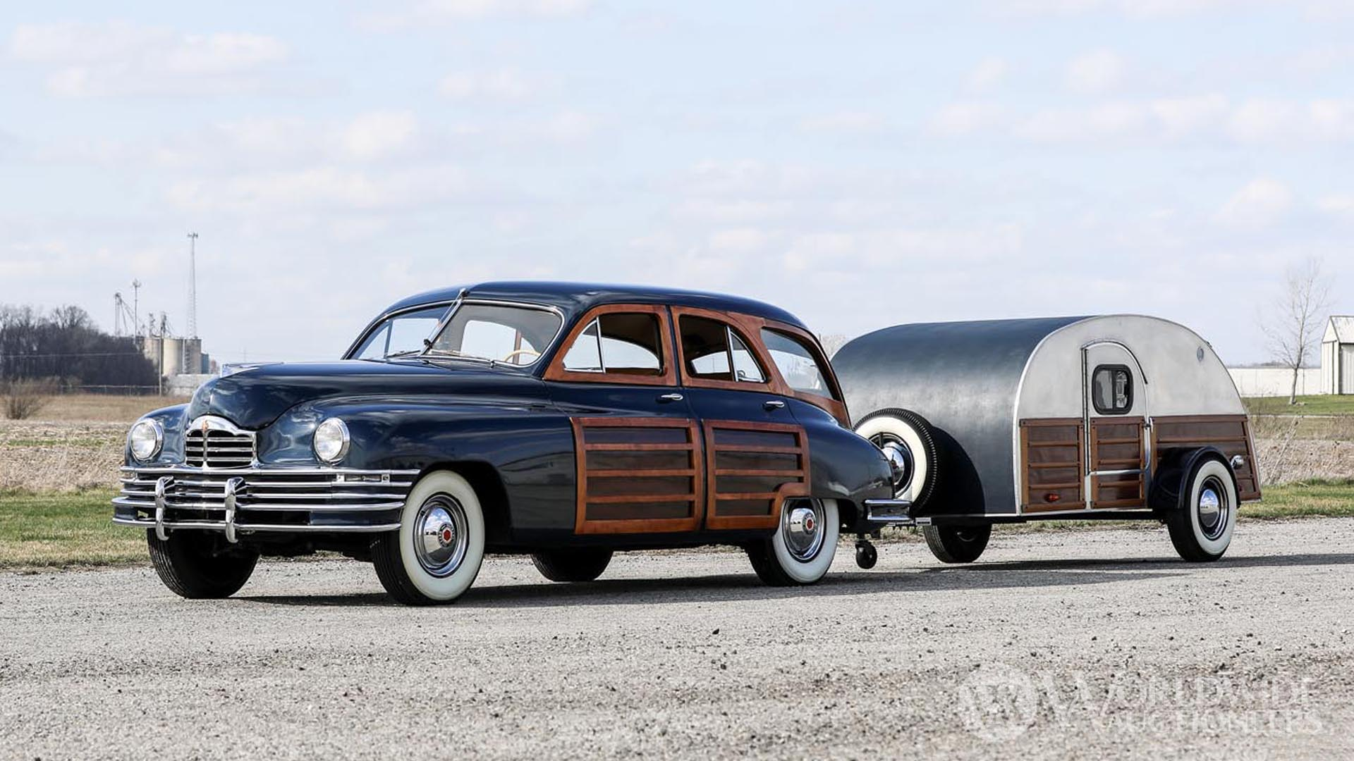 1948 Packard Eight Station Sedan with Teardrop Trailer