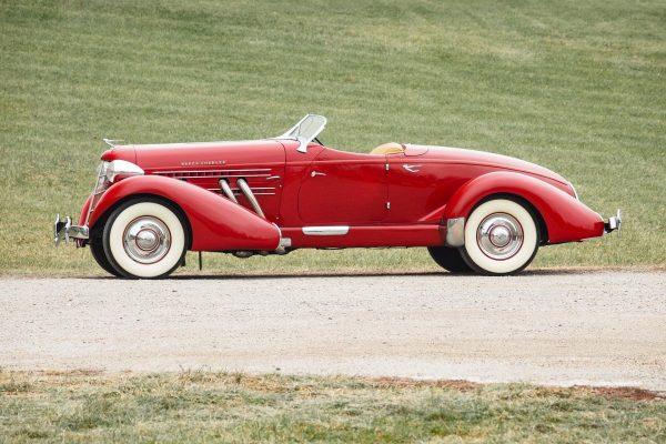 1935 Auburn 851 SC Boattail Speedster Red