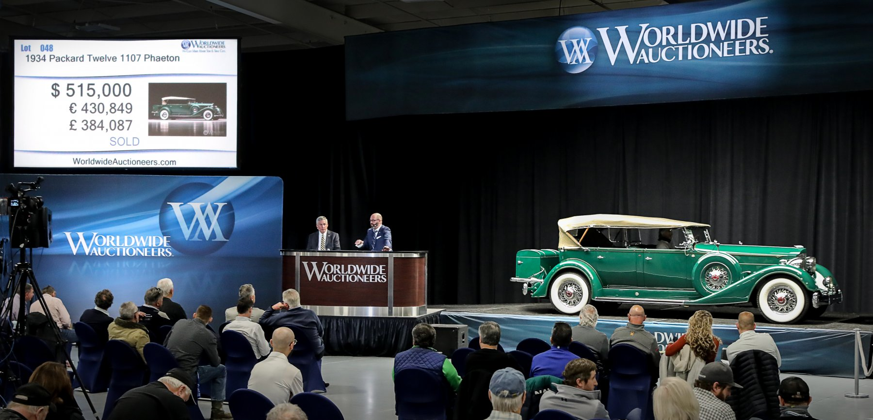 Worldwide's Scottsdale Auction in Auburn sets multiple world records and delivers a 93% sale