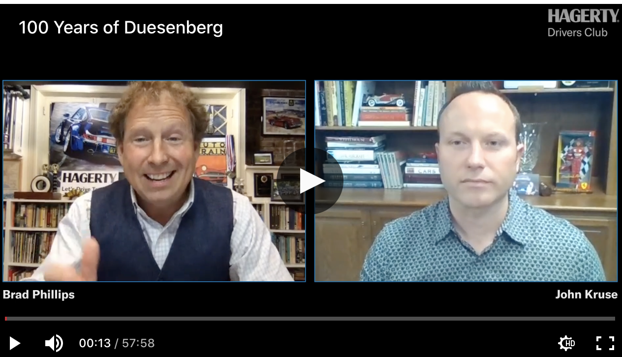 """John Kruse featured in Hagerty article & live stream: """"Is the Duesenberg Model J the greatest American car ever built?"""""""